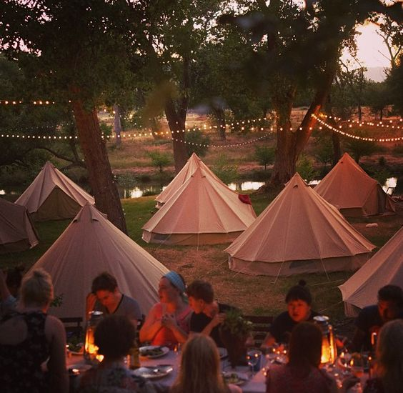 This company looks amazing! they'll set up unique tents for your bonfire parties or wedding for friends and family to have an overnight experience!