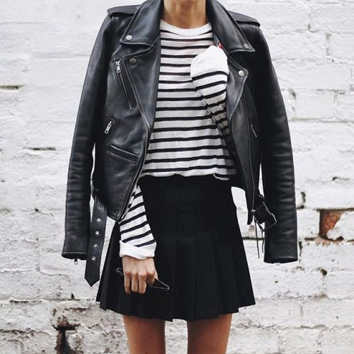 leather on stripes: