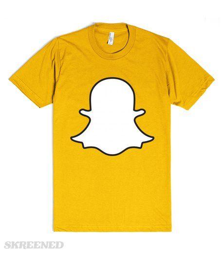 Snapchat Basic Ghost Shirt | Snapshirts WARNING: Snapchat is addictive. Use in moderation.  Printed on Skreened T-Shirt