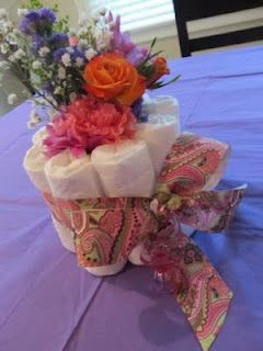 Diaper Flower Arrangement
