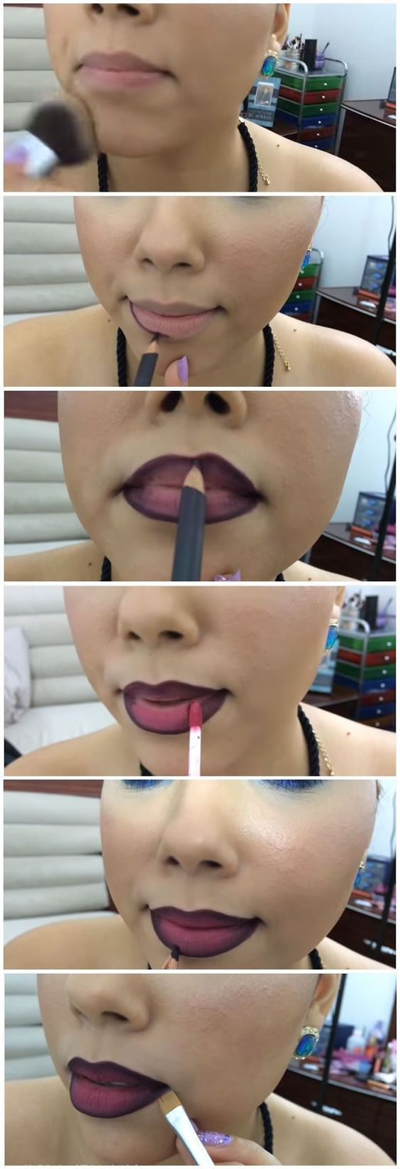 How To Do Ombre Lip | How To Apply Lipstick And DIY Lipstick Tricks by Makeup Tutorials http://makeuptutorials.com/how-to-do-ombre-lip/: