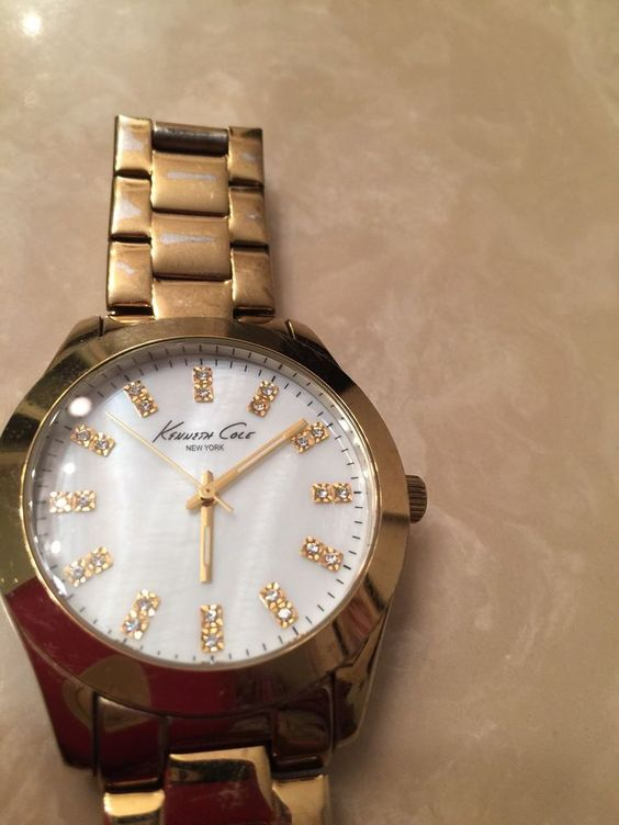 Kenneth Cole Mother of Pearl Diamond Watch | eBay