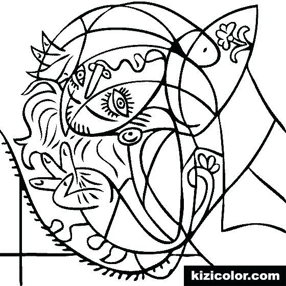 Pablo Picasso Coloring Pages Blue Guitar By Coloring Page Coloring Picasso Coloring Picasso Drawing Picasso Art
