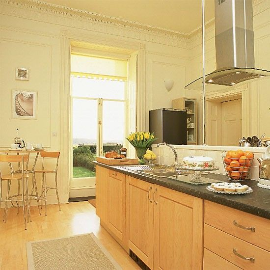 Kitchen with traditional mouldings and modern units | housetohome.co.uk