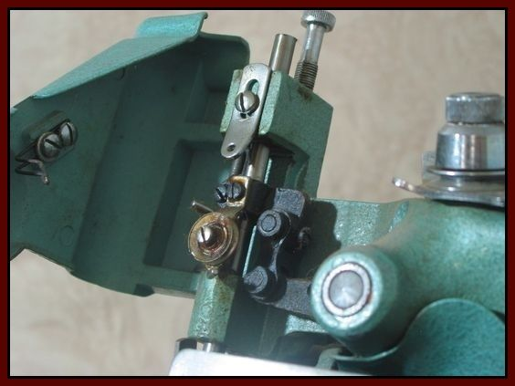 Mercury Over Lock M-81A-3 Sewing Machine 1940's or 1950's  Junk0931  http://ajunkeeshoppe.blogspot.com/