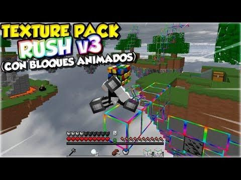 Texture Pack 100 Rush V3 Fps Con Bloques Animados Animo Bloques