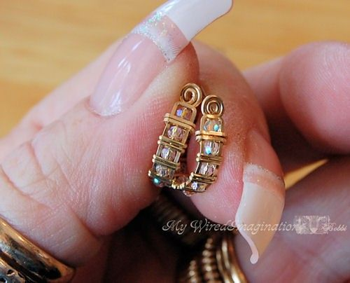 DIY Crystal Hoop Earrings Wire Jewelry by MyWiredImagination