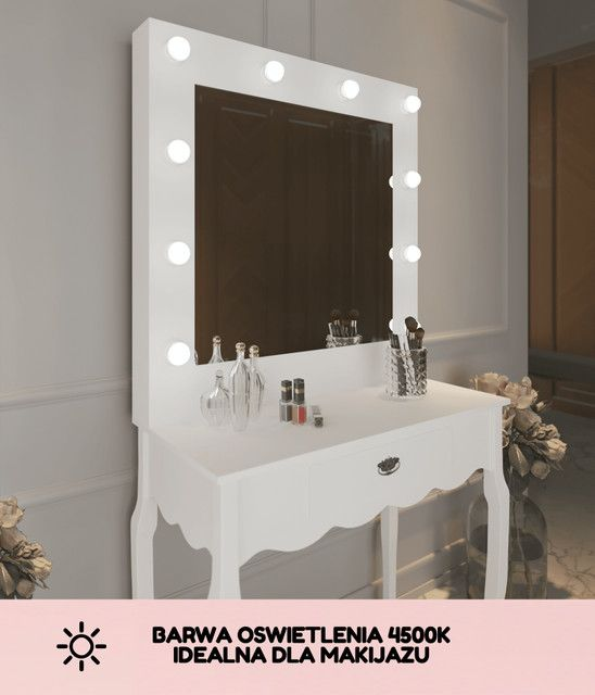 Toaletka Do Makijazu Z Oswietleniem Vanity Hollywoodmirror Led Vanity Bathroom Mirror Vanity