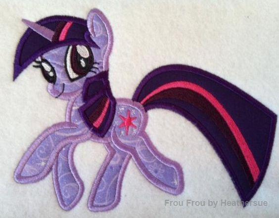 Twila Sprinkles Little Horse Unicorn Machine Applique Embroidery Design, mutliple sizes, including 4 inch