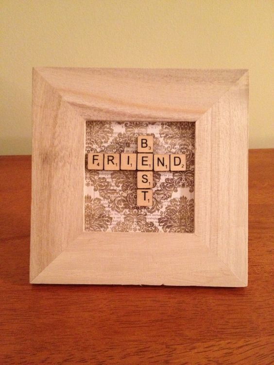 Hand crafted framed best friend miniature scrabble tiles for A perfect gift for a friend