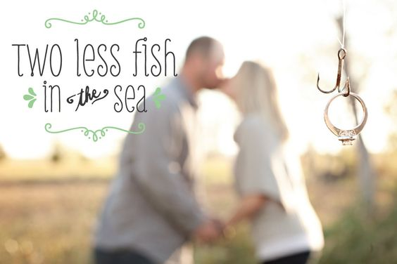 Save the date fish and dates on pinterest for Two less fish in the sea