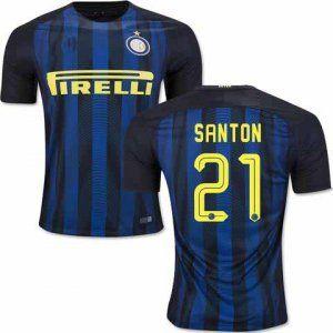 a1db3e7bec04b Inter Milan 16-17 Season Home SANTON 21# Soccer Jersey [G957 ...