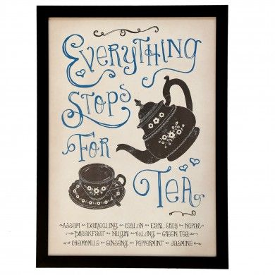 Wall Art Stop For Tea | DotComGiftShop