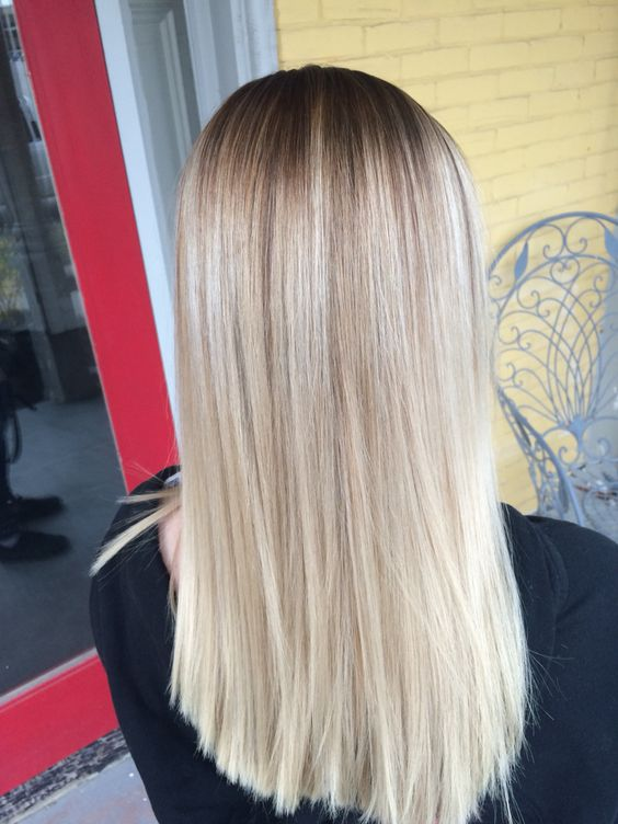 Blonde Stretched Root Hair And Makeup Pinterest