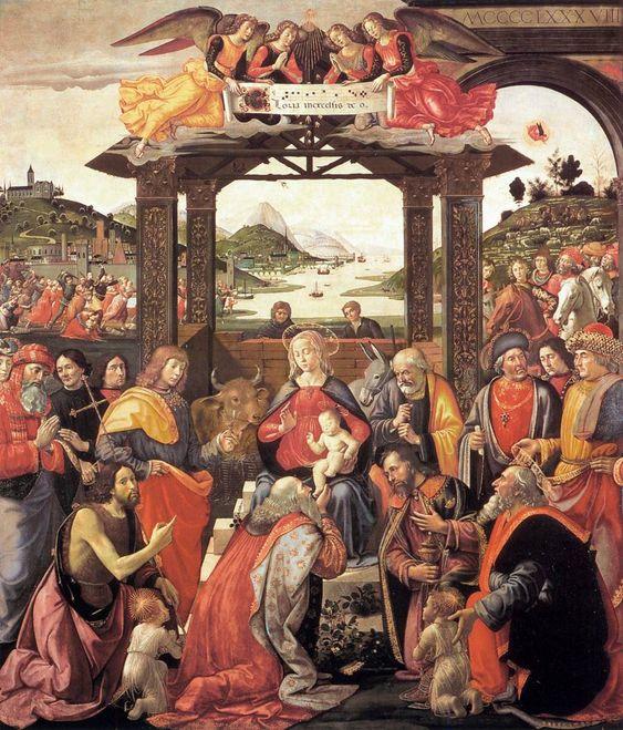 Adoration of the Magi / Adoración de los Reyes Magos // 1488 // Domenico Ghirlandaio // Spedale degli Innocenti, Florence // #Jesus #Christ #Epiphany