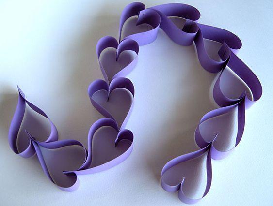 valentine heart chain