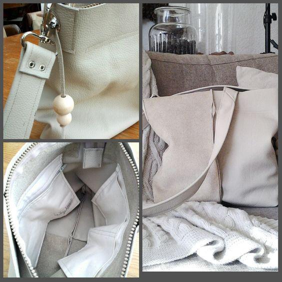 Lerentas zelfgemaakt. Leatherbag handmade. Door Inge.