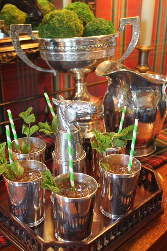 Mint juleps at the Derby Party: