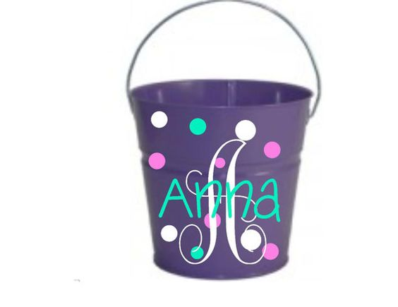 Halloween Bucket Custom 2 quote Toddler Size by PersonalizedbyDawn
