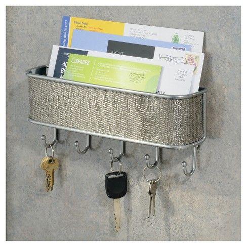 Interdesign Twillo Wall Mount Mail Key Rack Metallic 10 5 Target Wall Key Holder Mail Organizer Wall Key Rack