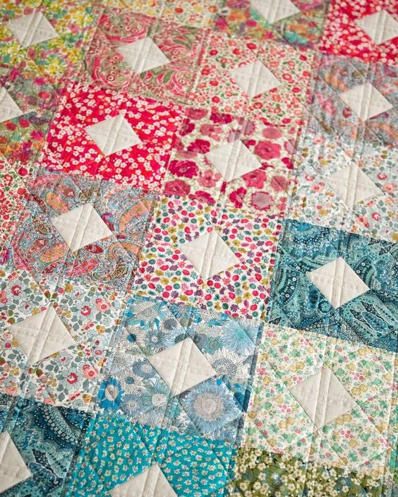 diamonds and squares quilt from By the Bundle