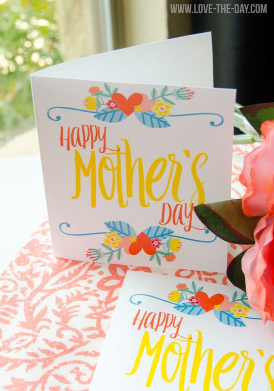 FREE PRINTABLE Mother's Day Card by Love The Day: