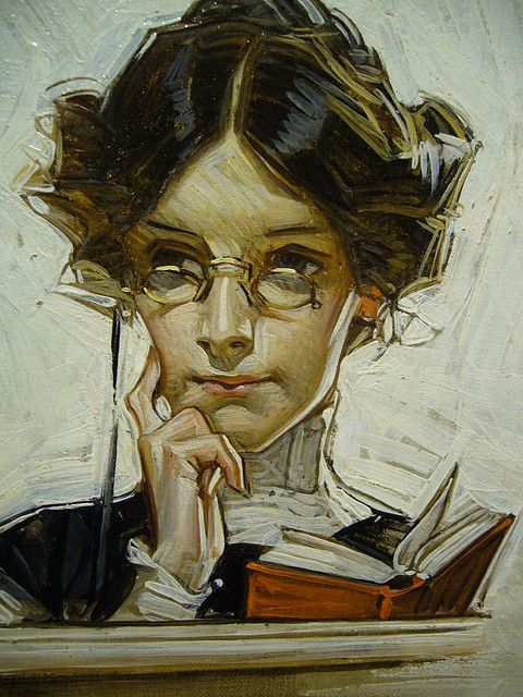 Between thoughts?: By J.C. Leyendecker, an artist with almost as many Saturday Evening Post covers as Rockwell.