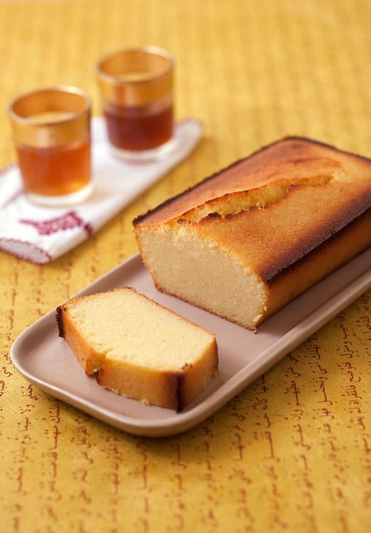 Cake à la semoule, au citron et au gingembre