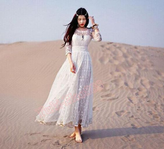 """Das Kleid ist aus hochwertigem Material, weich und gehauchten gemacht, ist es gut, im Sommer zu tragen.  Nr ACO0192  Größen-Diagramm als unten:  S: Länge: 49,6 """"/ 126cm Bust Größe: 33.9 """"/..."""