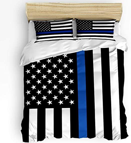 King Size Soft Comforter Set Bedding Duvet Cover Sets For Kids Girls Boys Blue Line American Flag Honoring In 2020 Soft Comforter Set Duvet Cover Sets Bed Duvet Covers