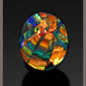 "Black Opal —""The Cathedral Window"" Lightning Ridge, Australia ❦ CHRYSTALS ❦ semi precious stones ❦"