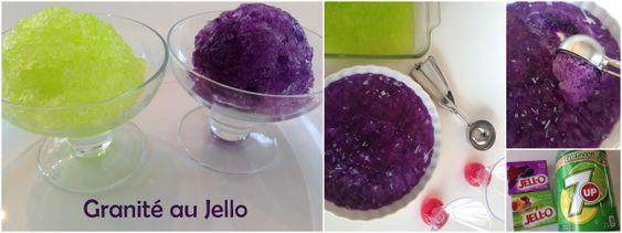 Un mélange de Jello et de soda qui donne qqchose entre le Mr.Freeze et la Slush. Un hit pour l'été!