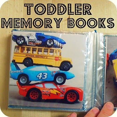 another way to make a toddler memory or word book #homeschool #preschool #toddlers #gift
