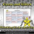 Cause and Effect Thinking Links Activity #2 - King Virtue's Classroom  Thinking Links are a great activity to use to see what students have learned...