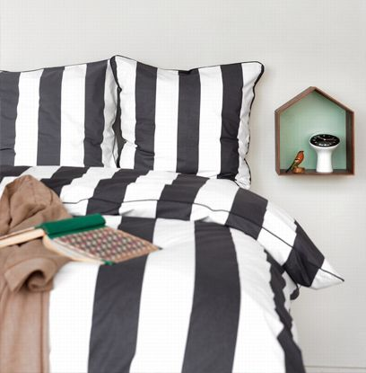 Funda Nórdica Vertigo Black Bedding de ferm LIVING. #fermLIVING #bedding #fundaNordica #NovedadesFermLIVING #RopaDeCama #textiles