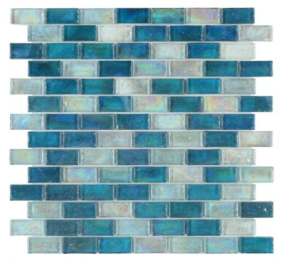 13 50 1x2 Malibu Ocean Blue Brick Pattern Glass Mosaic Pool Tile Mosaic Pool Tile Mosaic Pool Blue Mosaic Tile