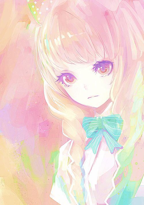 anime cute colorful girl - photo #49
