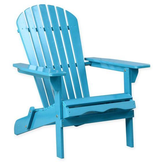 Acacia Wood Adirondack Folding Chair Bed Bath Beyond Folding