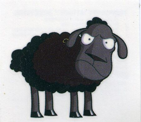 Celebrate Your Someone Else S Black Sheephood With This Temporary Tattoo Price Includes S H But Not Taxes For Ca Black Sheep Tattoo Sheep Tattoo Black Sheep