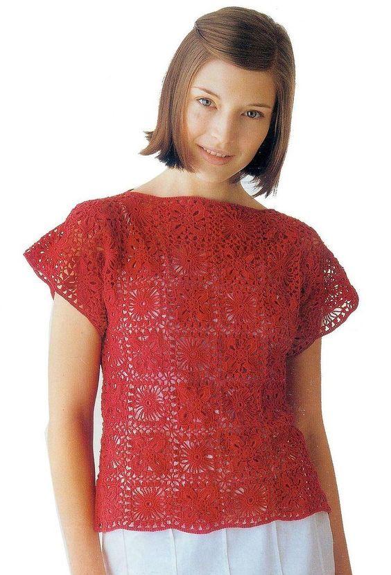 Crochetpedia: Crochet T-shirt Blouse