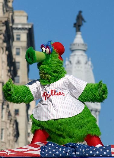 Philly Phanatic (on a float at the WS Parade).  #Phillies