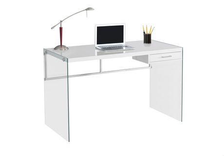 Monarch Specialties Inc Monarch Specialties Computer Desk White Chic Writing Desk Glass Desk Office Glass Office Desk Modern