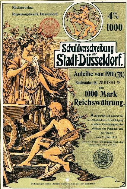 Düsseldorf Jugendstil Anleihe 1911