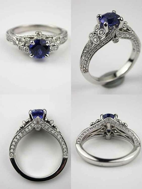 Interesting Pre Worn Diamond Rings Follow Montana Sapphire Engagement Ring Antique Style Engagement Rings Vintage Engagement Rings