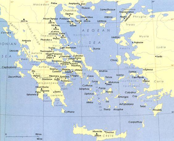 map of world mythology MapofAncientGreecegif – Map World Greece