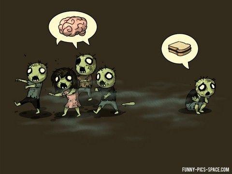 Armer Zombie-Aussenseiter