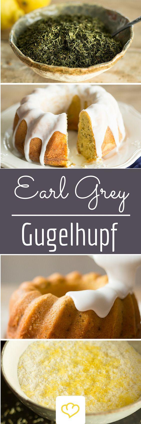 Tee im Kuchen? Aber ja! Dieser Gugelhupf bekommt dank Earl Grey und Zitrone eine ganz besondere Note!