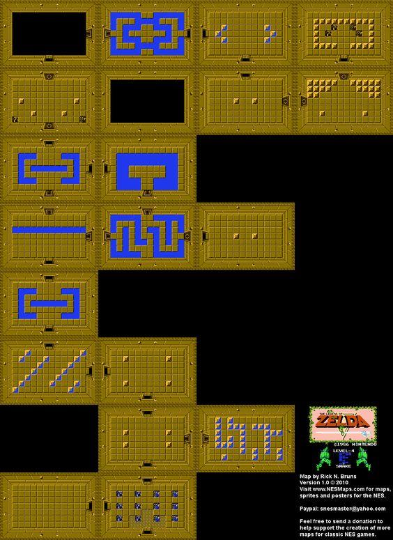 Legend Of Zelda Map Quest 1 : legend, zelda, quest, Legend, Zelda, Level, Snake, Design,, Zelda,