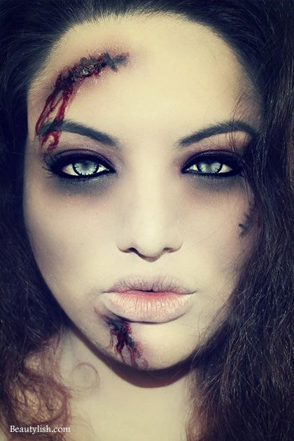 the halloween edit best easy makeup ideas to try this halloween zombie bride costume. Black Bedroom Furniture Sets. Home Design Ideas
