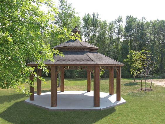 20 Foot Octagon Wood Gazebo Capitol Sheds Large Gazebo Gazebo Pergola Decorations